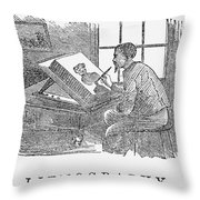 Lithography, 19th Century Throw Pillow