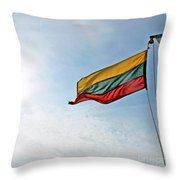 Lithuanian Tricolor Throw Pillow