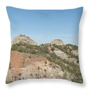 Little Badlands Missouri Panorama1 Throw Pillow