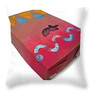 Little Big Horn Box Throw Pillow