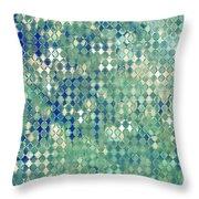 Little Blue Diamonds Throw Pillow
