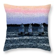 Little Boats Throw Pillow