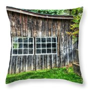 Little Brown Shed Throw Pillow
