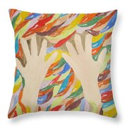Little Creative  Hands Throw Pillow