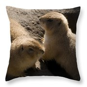 Little Dogs On The Prairie Throw Pillow