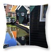 Little Dutch Houses Throw Pillow