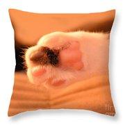 Little Foot Throw Pillow