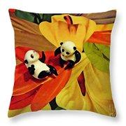 Little Glass Pandas 50 Throw Pillow