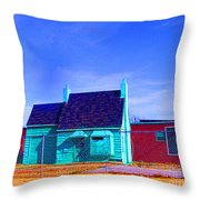 Little Green Relic Throw Pillow