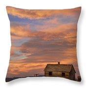 Little House On The Colorado Prairie Throw Pillow