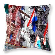Little Italy In Color Throw Pillow