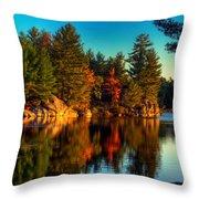 Little Mellon Lake One Throw Pillow