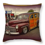Little Old Woody Throw Pillow