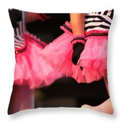 Little Pink Tutus Throw Pillow