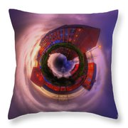 Little Planet - Suburban Sunset Throw Pillow