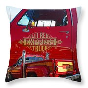 Little Red Exprees Door Hdr Throw Pillow