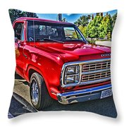 Little Red Express Hdr Throw Pillow
