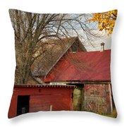 Little Red Farm Throw Pillow