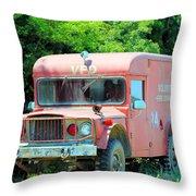 Little Red Firetruck Throw Pillow
