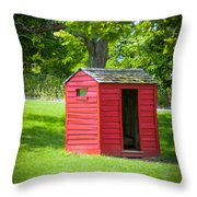 Little Red Three-seater Throw Pillow