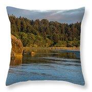 Little River Panorama Throw Pillow