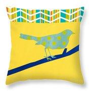 Little Song Bird Throw Pillow