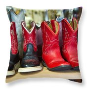 Little Tykes Cowboy Boots Throw Pillow