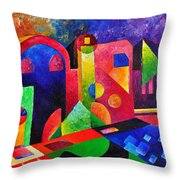 Little Village By Sandralira Throw Pillow