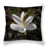 Little White Flower Throw Pillow