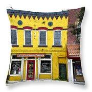 Little  Yellow Store Throw Pillow