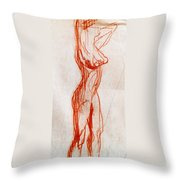 Live Model Study 1 Throw Pillow
