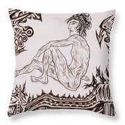 Live Nude - Male No. 26 Throw Pillow