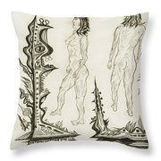 Live Nude 18 Female Throw Pillow