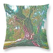 Live Oak On The Teche Throw Pillow