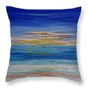 Lively Seascape Throw Pillow