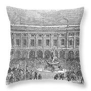 Liverpool Exchange, 1854 Throw Pillow