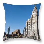 Liverpool Skyline Throw Pillow