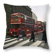 Liverpool Street Station Bus - London Throw Pillow