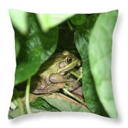 Lives With The Green Beans Throw Pillow
