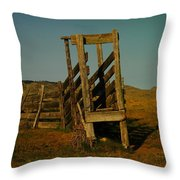 Livestalk Loader In South Dakota Throw Pillow