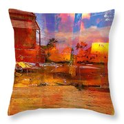 Living Abroad Is A Trip Throw Pillow
