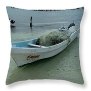 Living On The Coast Throw Pillow
