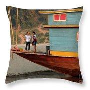 Living On The Mekong Throw Pillow