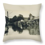 Livingston Manor - 1938 Flood Throw Pillow
