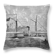 Livingstone: Steam Launch Throw Pillow by Granger
