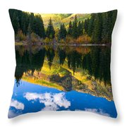 Lizard Lake Reflections Throw Pillow