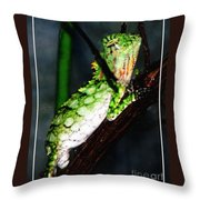 Lizard With Oil Painting Effect Throw Pillow