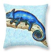 Lizzie Loved Lizards Throw Pillow by Nikki Marie Smith