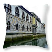 Ljubljana Reflections Throw Pillow