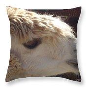 Llama Mmama Throw Pillow
